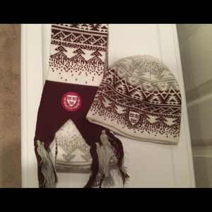Harvard Winter Hat and Scarf